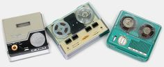 Collectible technology antique tape recorders: Executive TR-10, Kaytone, Miny