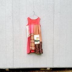 upcycled Dress / romantic Upcycled / Patchwork Dress / Funky Tunic Dress / Eco Dress / Artsy Dress by CreoleSha by CreoleSha on Etsy