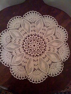handmade crochet doily - just like mom and grandma used to make!