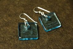 Eco Friendly Recycled Glass Bottle Earrings by DessinCreations, $28.00
