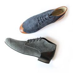 Lonesome Detail, modèle JAMES, #boots #men #boy #grey #blue #shoes