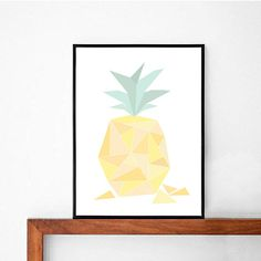 Hey, I found this really awesome Etsy listing at https://www.etsy.com/listing/211461393/geometric-shape-pineapple-art-print-a4