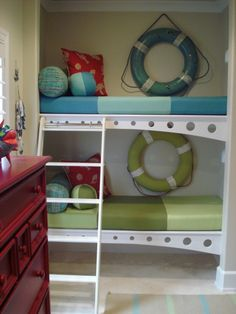 cute! @Cheryl Smith would be cute in the bunk bed room :)