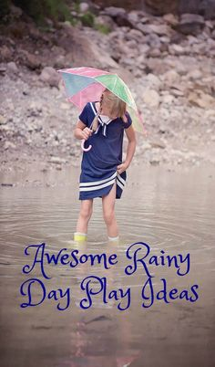 Budget friendly Rainy Day Play Ideas . Cost free ideas for fun on a day full of rain. Lots of brilliant thrifty play activities and ideas here. Don't let the rain stop play!