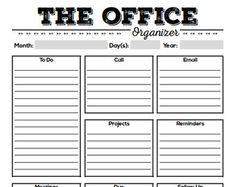 Mini organizador de trabajo medio tamaño por FreshandOrganized