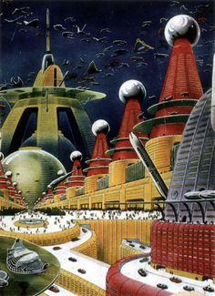 Future City Perhaps? retro-futuristic, sci-fi, science fiction