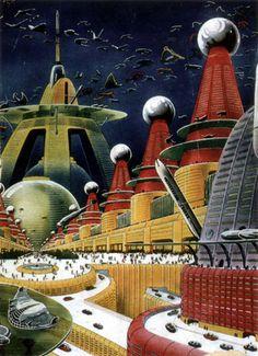Future City Perhaps? retro-futuristic, sci-fi, science fiction
