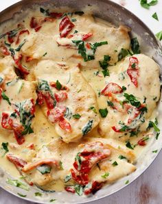Creamy Tuscan Garlic Chicken mediterranean keto recipe