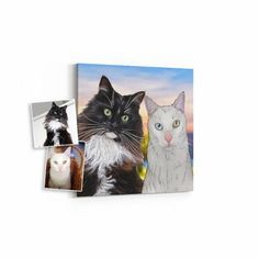 personalized cat portrait gift for cat lover, cat mom gift idea, cartoon cat illustration <<< Order your portrait here <<< Gifts For Dog Owners, Gifts For Pet Lovers, Dog Gifts, Cat Lovers, Custom Dog Beds, Pet Memorial Gifts, Custom Dog Portraits, Pet Memorials, Sympathy Gifts