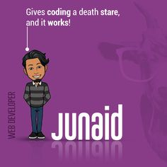 Junaid is a person who just #LOVES❤ to #learn and apply his learning! From being a #backend👨🏻💻 developer to trying his hands on the #frontend, he has surprised😮 each one of us with a variety of cool websites🕸. But be ready to question your existence when you call him out👂. He keeps himself so consumed in coding that even if a rocket launches🚀 right beside him, he won't even notice it.  #webdeveloper #digitalmarketing #socialmediamarketing #websitedevelopment #branding