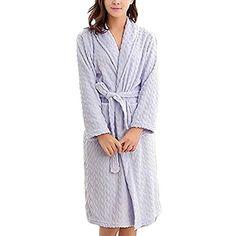 BOLAWOO Femme Kimono Printemps Automne Peignoir Casual Mode Elégante Mode  Chic Couleur Unie Vêtement De Nuit Manches Longues V-Cou avec Poches  Ceinture ... 1a052b11b75