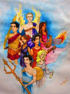 The seven dressed as their godly patents
