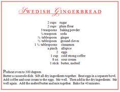Swedish gingerbread recipe Talk of the House