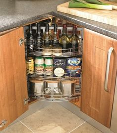 40 Organization And Storage Hacks For Small Kitchens Pinterest Kitchen Diy Corner