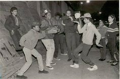 Rock Steady Crew in front of the Roxy - Mr. Wiggles and PopMaster Fabel