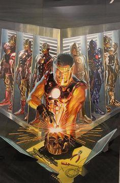 Iron Man - Universo Marvel Marvel Comics Art, Marvel Heroes, Marvel Characters, Captain Marvel, Captain America, Ms Marvel, Alex Ross, Comic Books Art, Comic Art