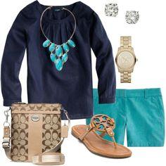 navy & tourquoise