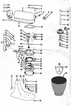 Great KitchenAid Food Mixer K4 B Maintenance And Repair Manual Images