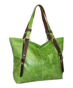 Love this Nino Bossi Handbags Apple Green Terra Tote by Nino Bossi Handbags on #zulily! #zulilyfinds