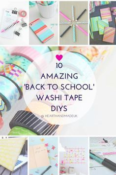 10 Amazing 'Back To School' Washi Tape DIY Ideas