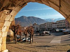 Piazza in Sulmona Italy