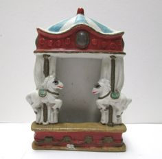 Circus Carousel Picture Frame Merry Go Round by VintageCarolina, $13.00