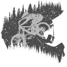 New Mountain Bike Tattoo Mtb Ideas - Stencil Art - Fahrrad Cycling Tattoo, Bicycle Tattoo, Cycling Art, Velo Dh, Framed Art Prints, Canvas Prints, Biker Tattoos, Bike Illustration, Bike Photography