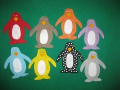 Pippa's Penguins flannelboard, story and template by Susan M. Dailey