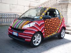 Well I think it's pretty cool... #crochet smart car