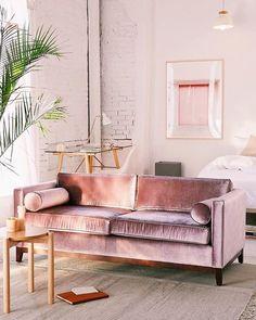 - Piper Petite Velvet Sofa, $849