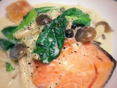 Linguine, Japanese Food, Thai Red Curry, Hummus, Food To Make, Salmon, Seafood, Recipies, Food And Drink