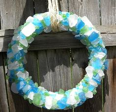 Remodelaholic   Seaglass Crafting: Wreath How to; Guest
