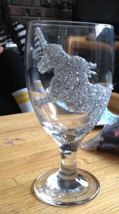 Free hand wine glass design
