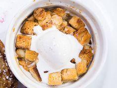Warm White Chocolate Challah Bread Pudding