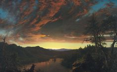 Twilight in the Wilderness by Frederic Edwin Church (3) - Hudson River School