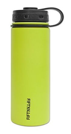 FiftyFifty Lime VacuumInsulated Stainless Steel Bottle with Wide Mouth  18 oz Capacity *** Read more reviews of the product by visiting the link on the image.(This is an Amazon affiliate link and I receive a commission for the sales)