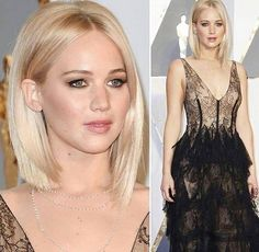 Jennifer Lawrence, Oscars 2016 // Hair