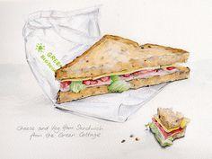 Cheese and vegetarian ham sandwich by debra morris, via Flickr