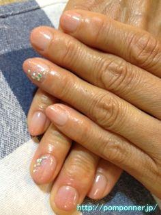 Gradient of beige nail
