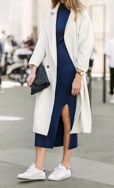 Clean lines + tennies #streetstyle #minimal #outfit