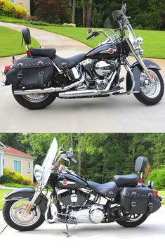 Learn more about this used black 2017 Harley-Davidson® FLSTC Heritage Softail® Classic motorcycle for sale on ChopperExchange. Harley Bikes, Harley Davidson Motorcycles, Custom Motorcycles, Classic Motorcycles For Sale, Classic Bikes, Bobber Motorcycle, Motorcycle Garage, Honda Shadow 1100, Ford Maverick
