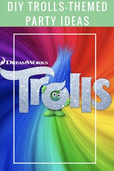 Diy trolls themed party ideas. If you want to host your own Trolls party before the movie, or even just for fun, get some party inspo straight from Dreamworks! #Sponsored