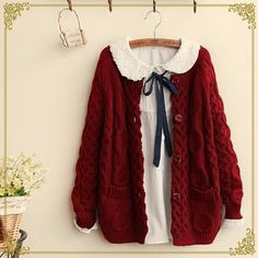 Buy Fairyland Cable-Knit Cardigan at YesStyle.com! Quality products at remarkable prices. FREE WORLDWIDE SHIPPING on orders over US$�35.