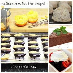 40 Grain-Free, Nut-Free Desserts!!