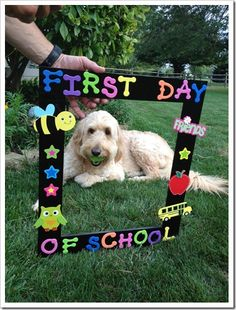 First Day of School frame!  Students will hold up the frame while I snap a picture.  Will be a great keepsake for parents!