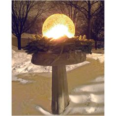 Ice Globe Lanterns - Globe Ice Lantern Starter Kit- figure you are in the place for this! deluxe kit and refill heavy duty balloons also available! Snow Removal Equipment, Winter Greenhouse, Frozen, Ice Sculptures, Garden Items, Fire And Ice, Winter Activities, Winter Landscape, Wonderful Time
