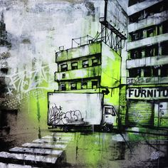URBAN DISTRICT by @GRAFFMATT #art #carredartistes @Carre d'artistes @Carré d'artistes #artgallery #french #artist #graffmatt #painting #nyc #newyork #building #illustration #street #urban #contemporaryart #fineart #modern #buyart #artforsale #forsale #inspiration #streetart #drawing #rue #urbain #city