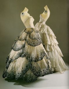incredibly gorgeous Christian Dior ball gowns from 1949
