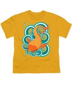 Playing Koi Youth T-Shirt by Shawna Rowe #kidsclothing #kidsclothes #babytees #tshirts #koifish #cute