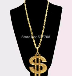 18k gold plated chain US dollar necklace hip hop bling gangster chain pendant $9.99…Real statement peice #bling #hiphop #pendent